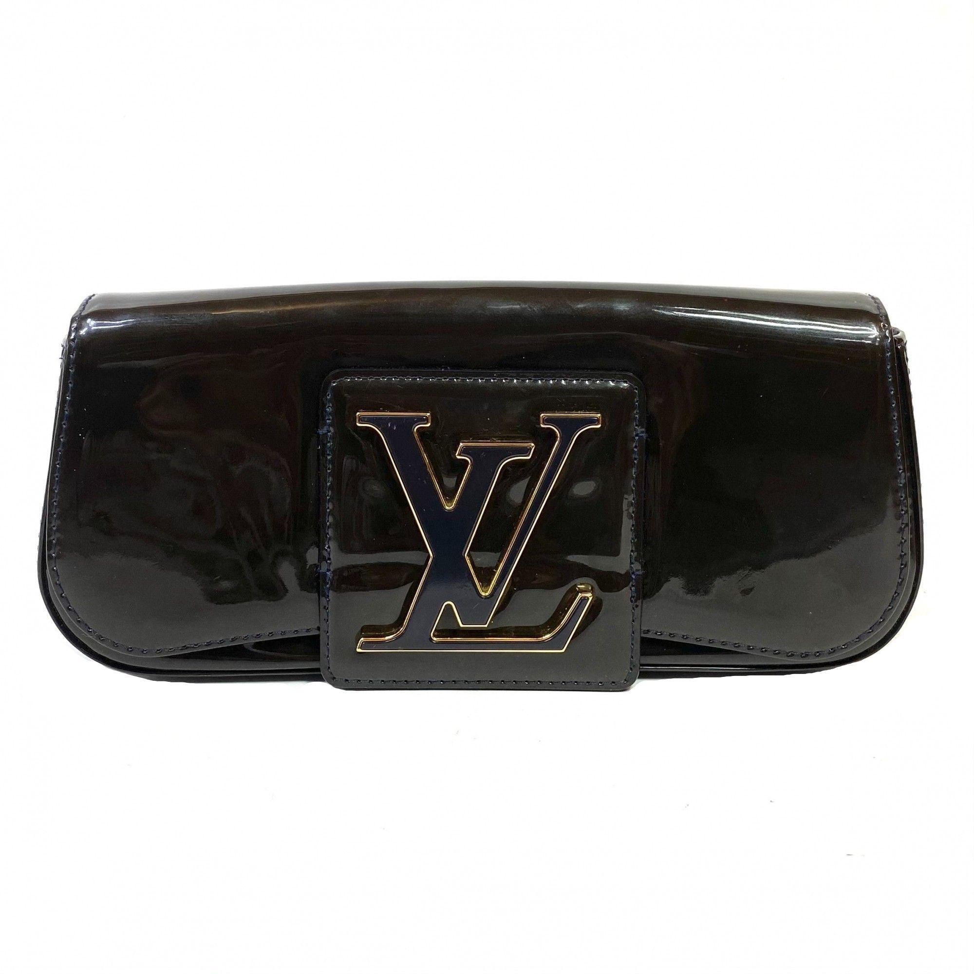 Bolsa Clutch Louis Vuitton Sobe Verniz Marinho