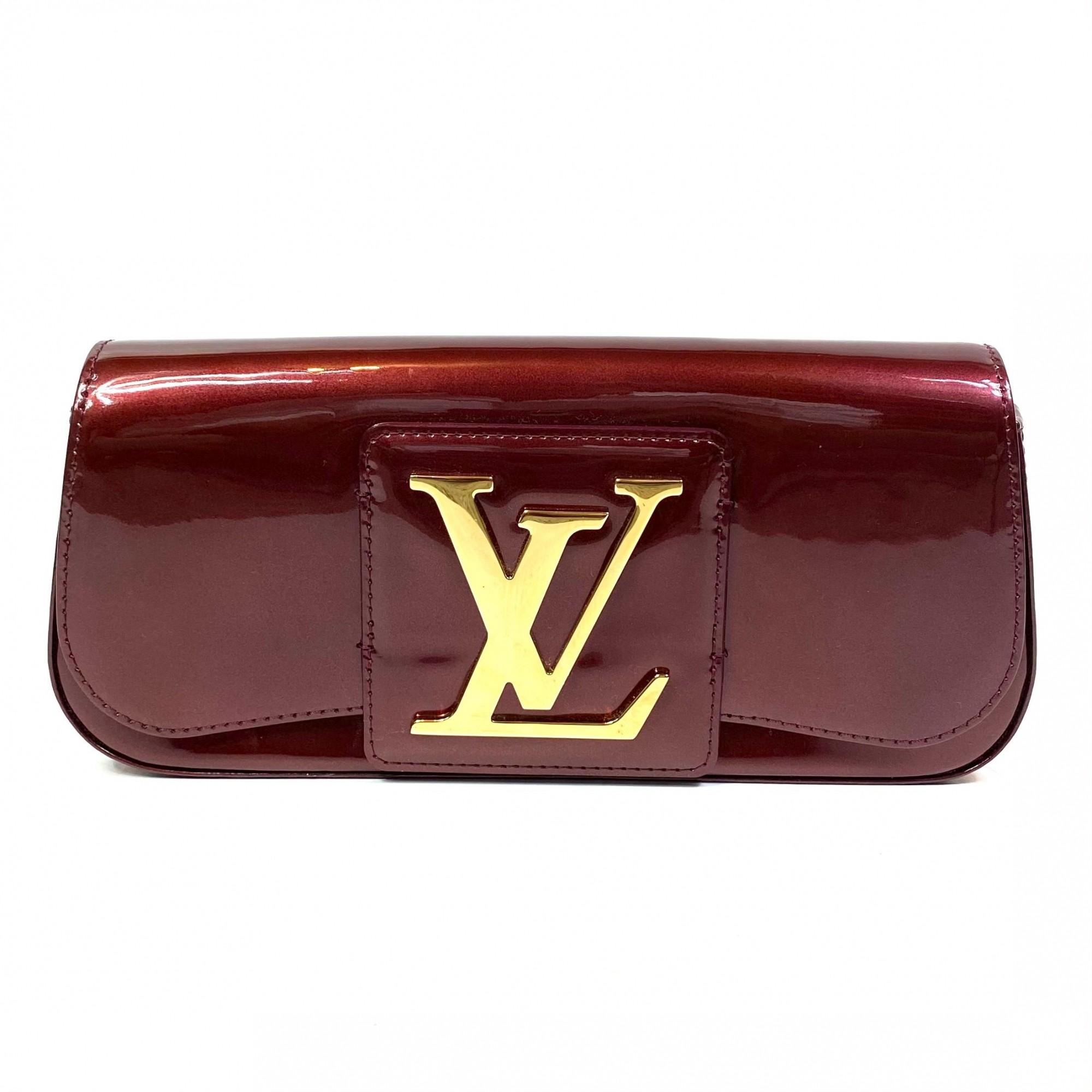 Bolsa Clutch Louis Vuitton Sobe Verniz Vinho
