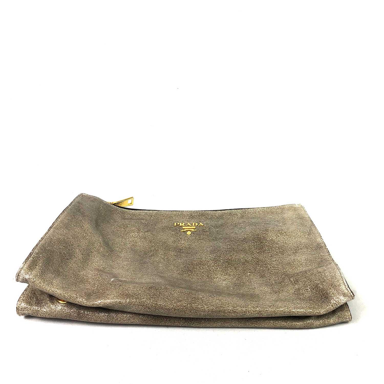 Bolsa Clutch Prada Dourada