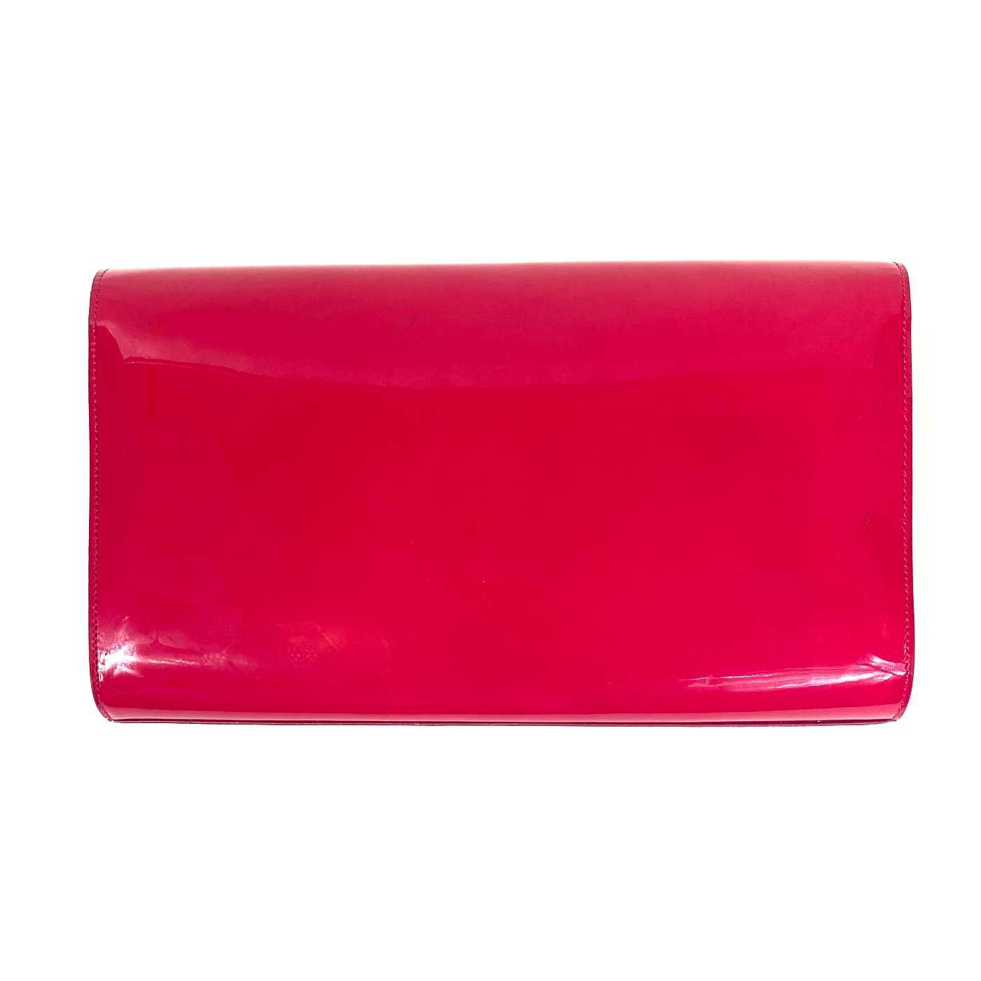 Bolsa Clutch YSL Belle Du Jour Verniz Pink