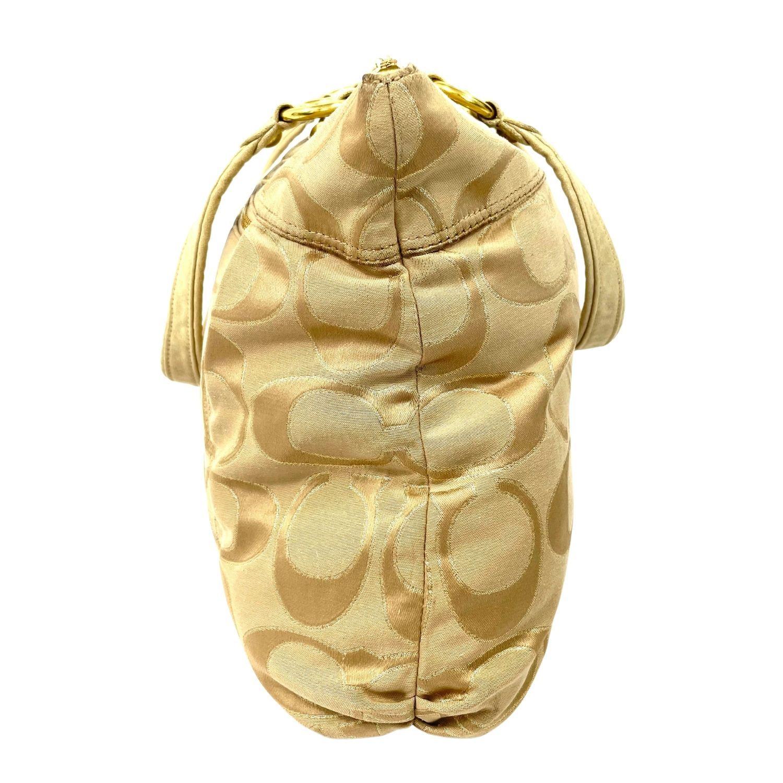 Bolsa Coach Monograma Beige e Dourada