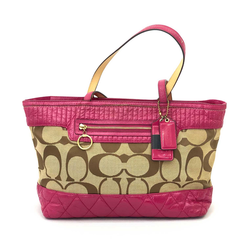 Bolsa Coach Monograma e Pink