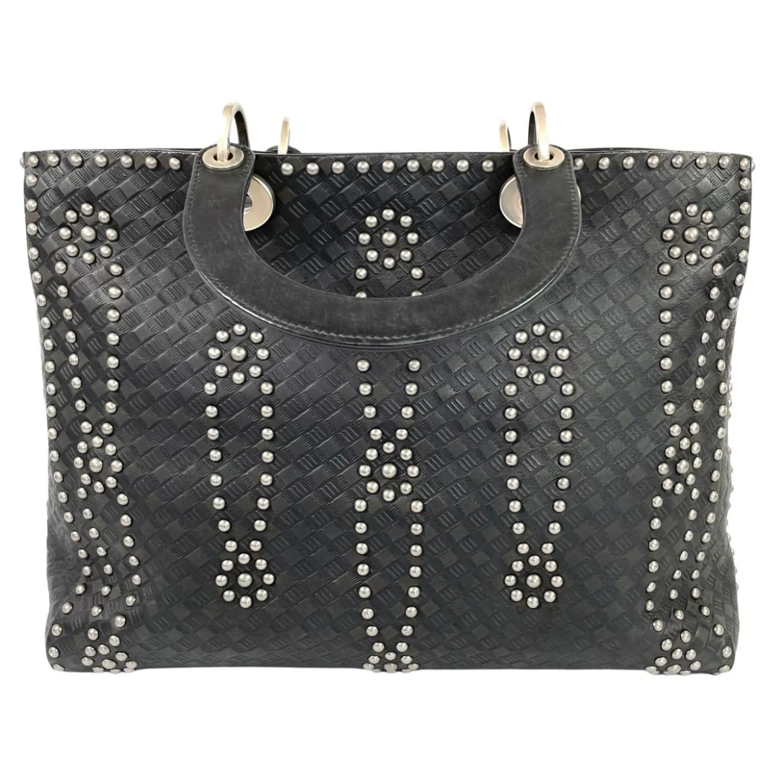 Bolsa Dior Lady Dior Studded Supple Preta