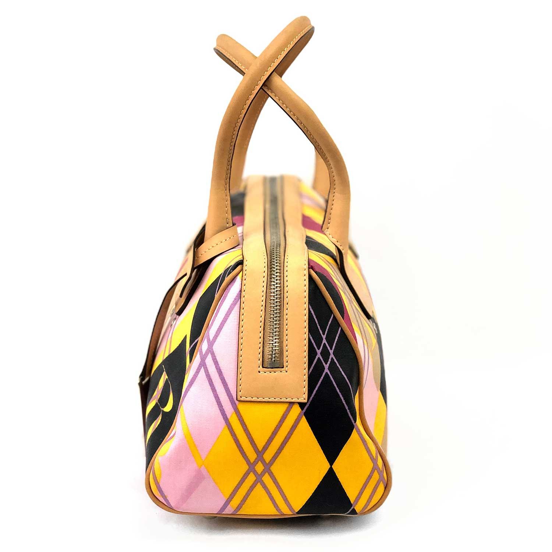 Bolsa Dior Losangos  Amarela Rosa