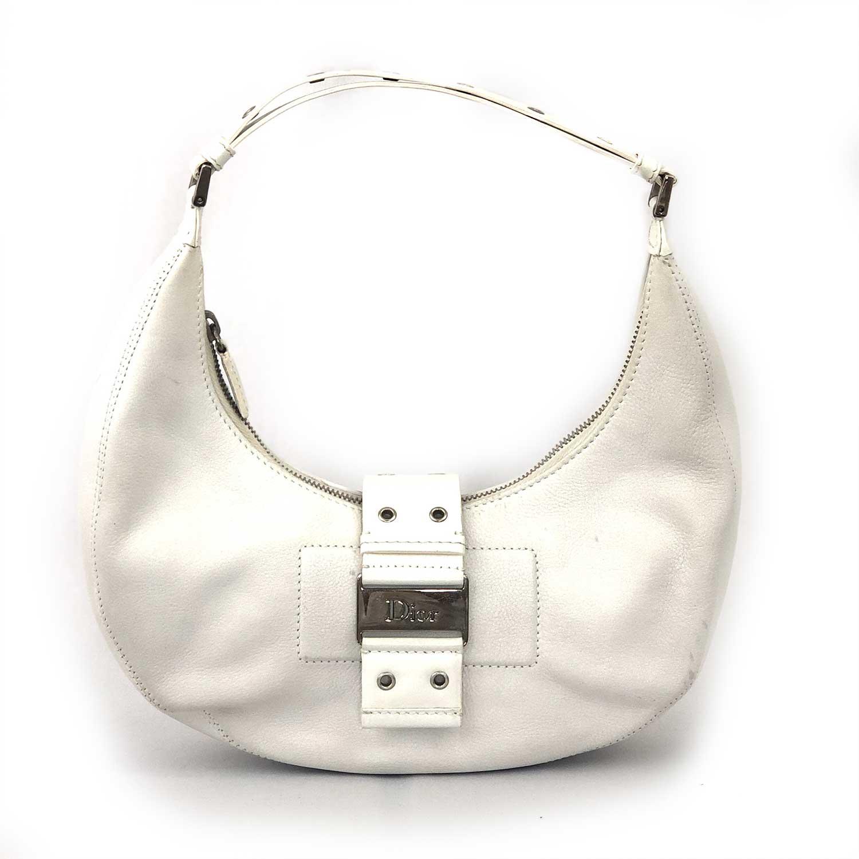 Bolsa Dior Half Moon Branca