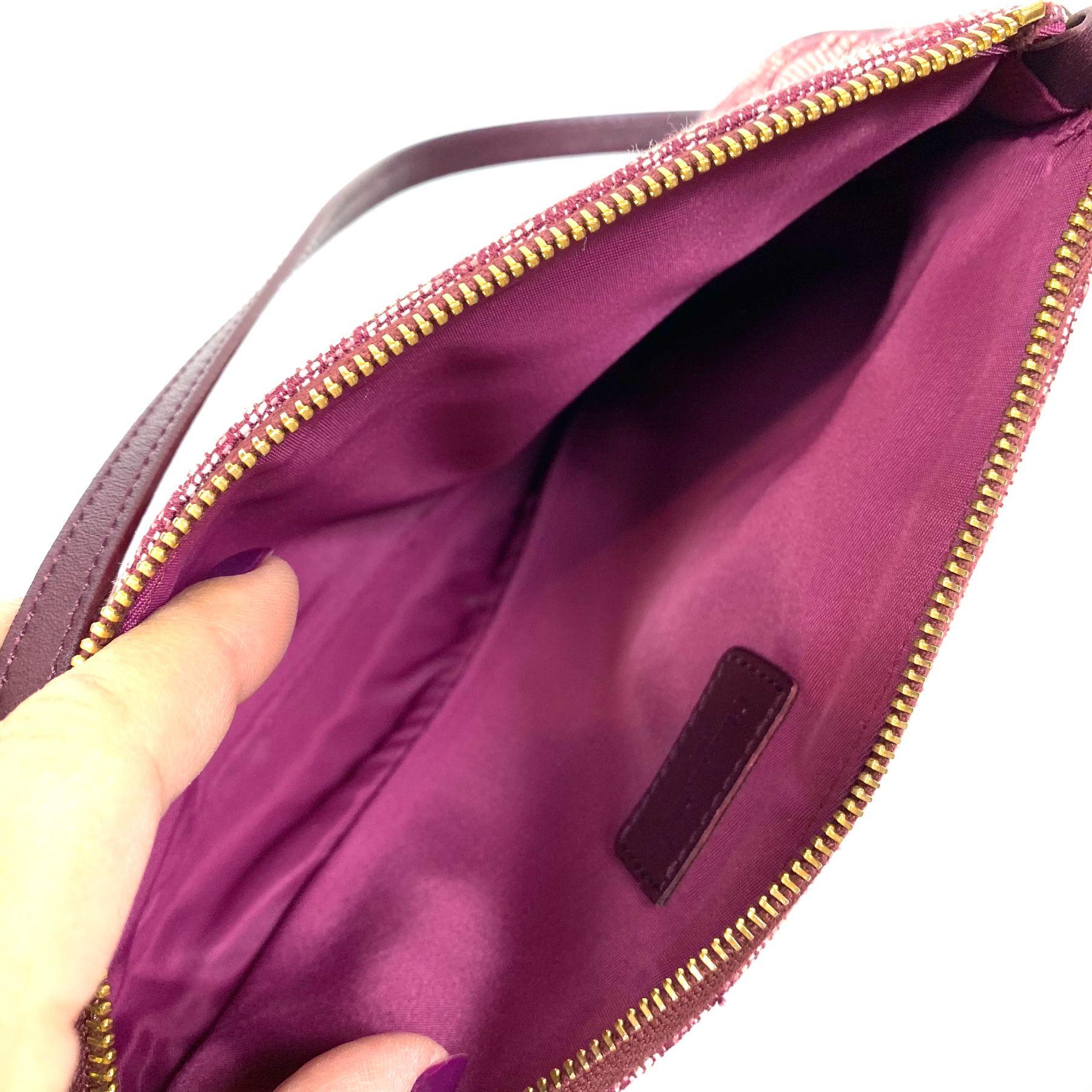 Bolsa Dior Saddle Pochette Vinho