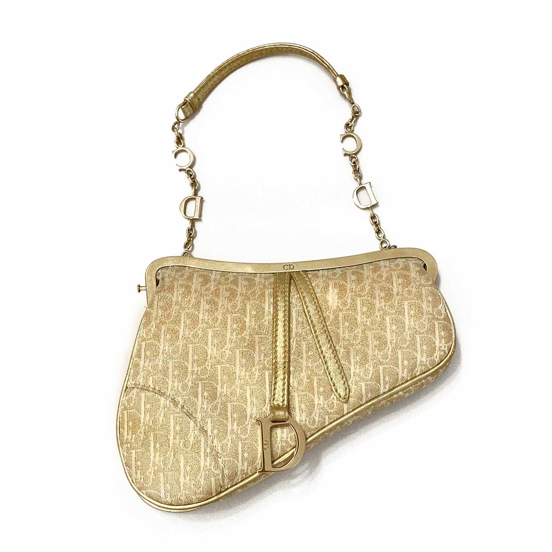Bolsa Dior Sela Mini Dourada