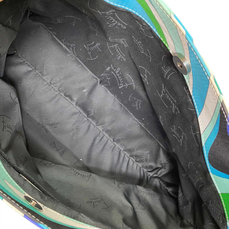 Bolsa Emilio Pucci Tote Nylon Azul e Verde