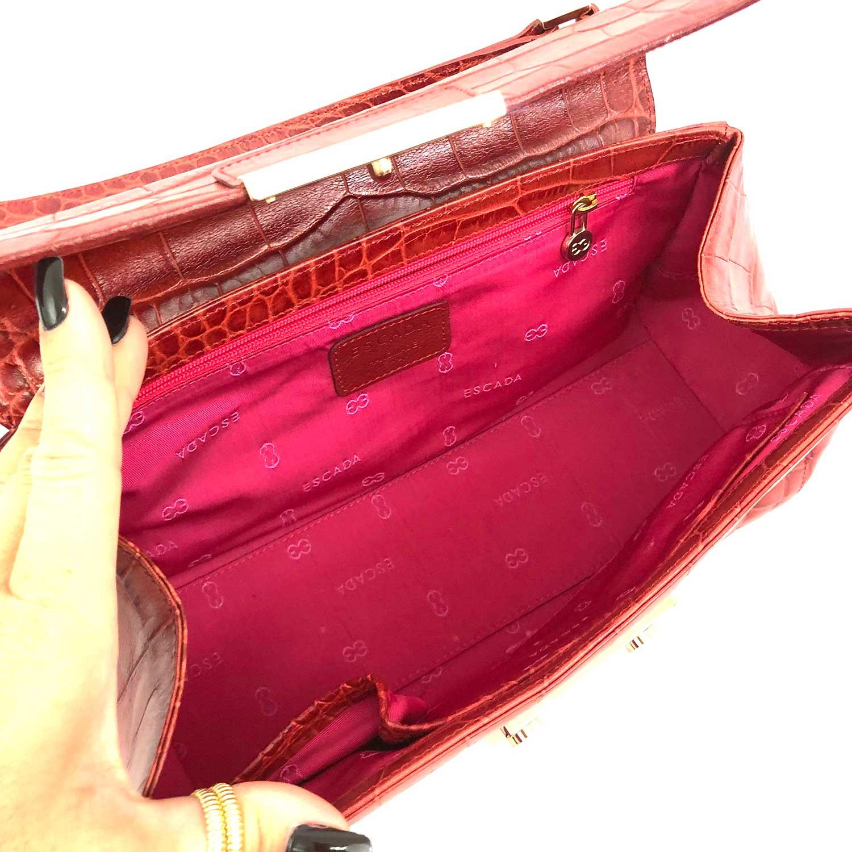 Bolsa Escada Croco Vermelha