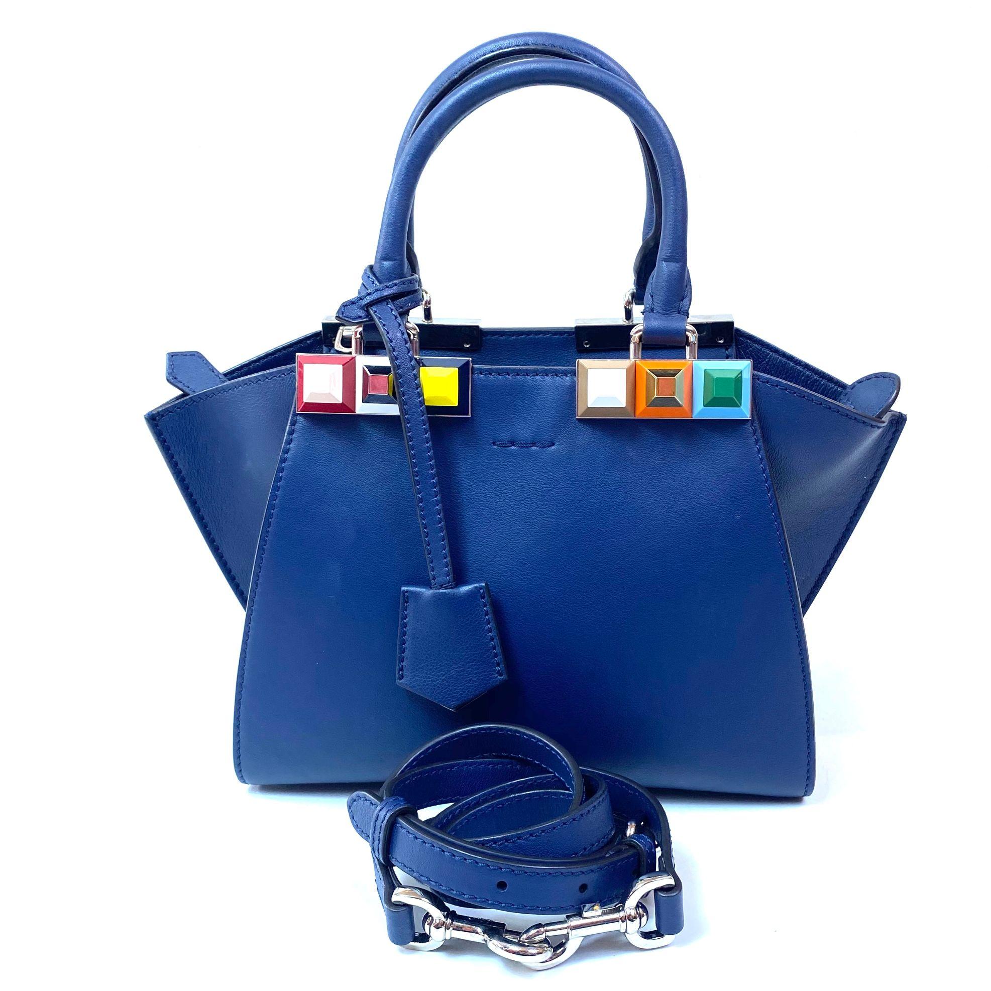 Bolsa Fendi 3Jours Azul
