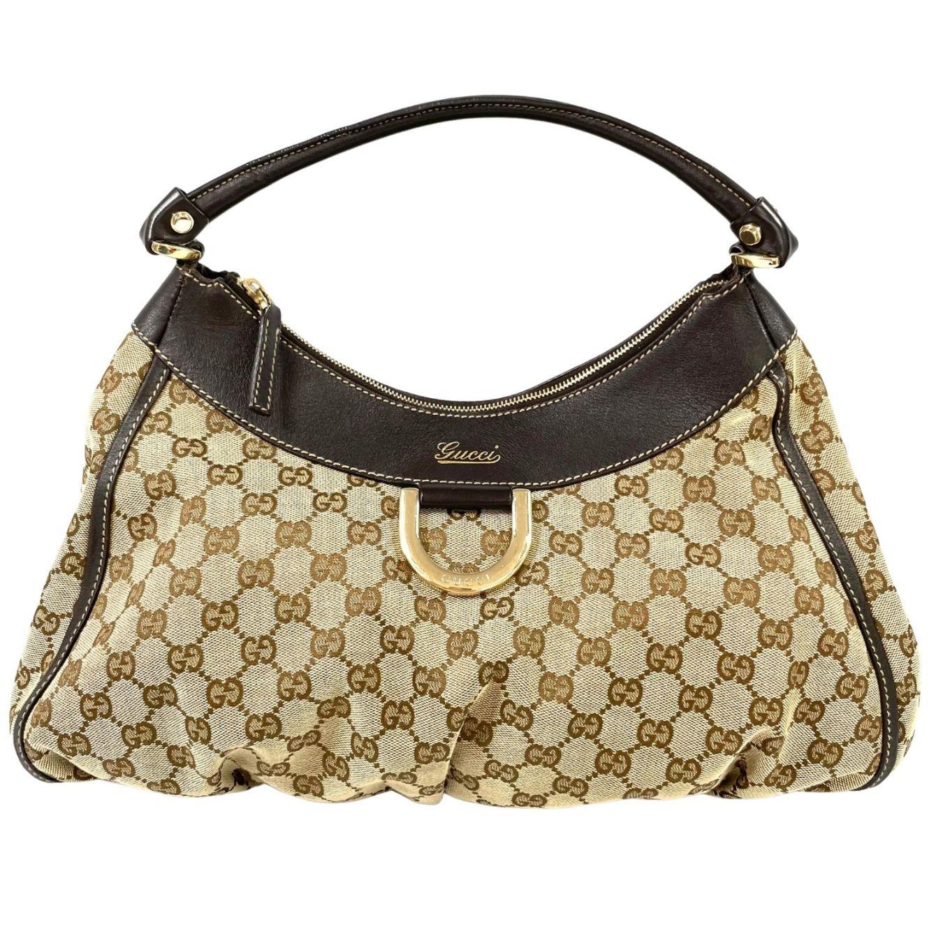 Bolsa Gucci Abbey GG Hobo Monograma