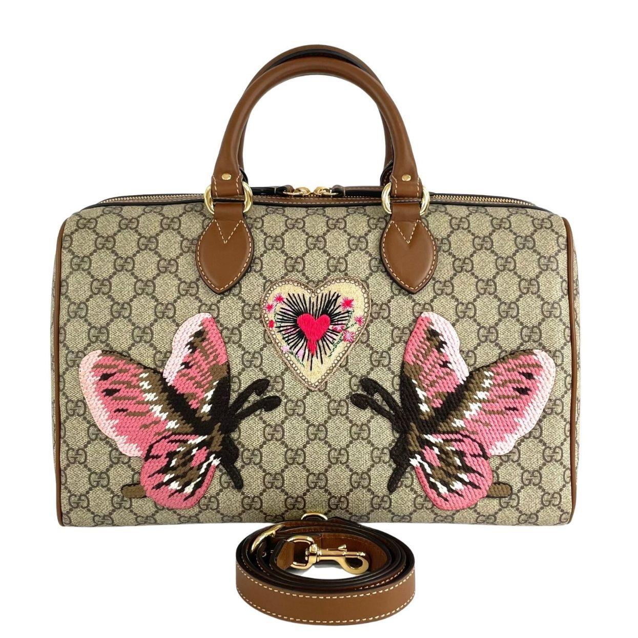 Bolsa Gucci Boston GG Supreme Butterfly