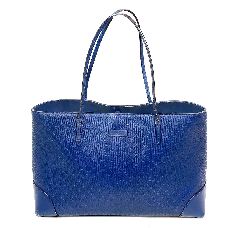 Bolsa Gucci Bright Diamante Tote Azul Marinho