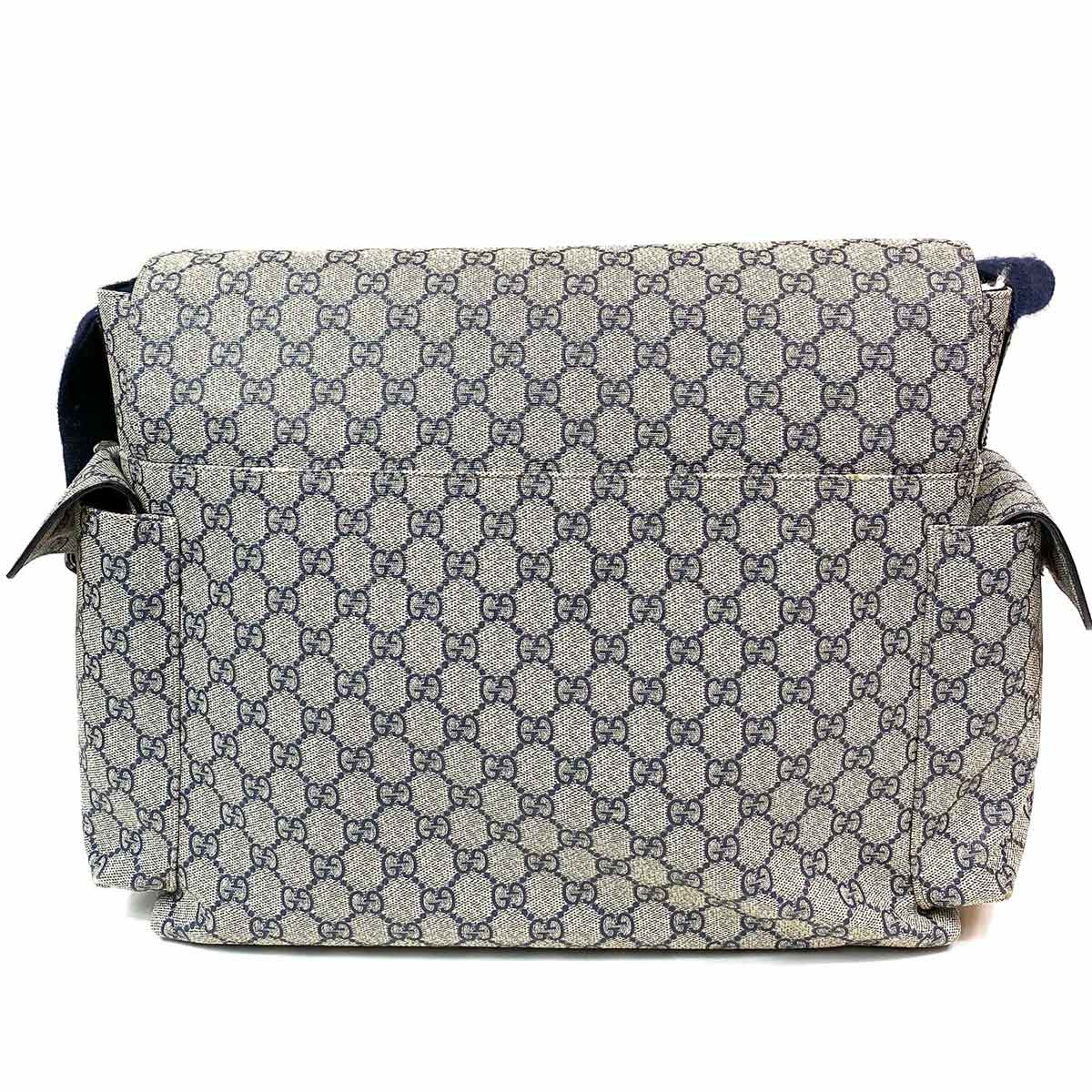 Bolsa Gucci Diaper Bag GG Marinho