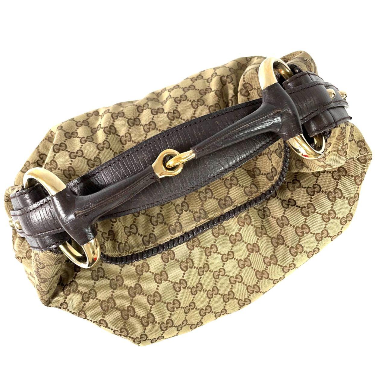 Bolsa Gucci GG Horsebit Hobo Monograma