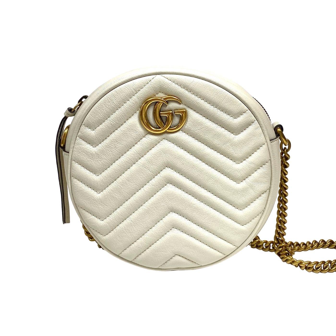 Bolsa Gucci GG Marmont Offwhite