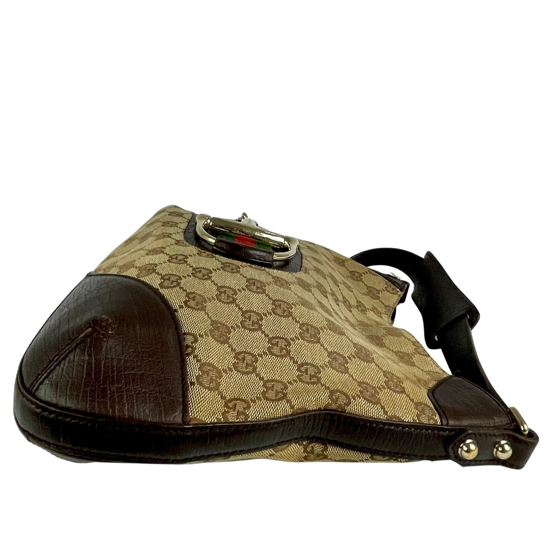 Bolsa Gucci Hasler Web Hobo Monograma