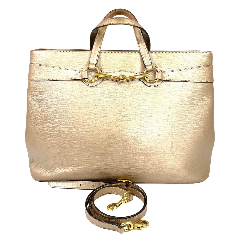 Bolsa Gucci Horsebit Dourada