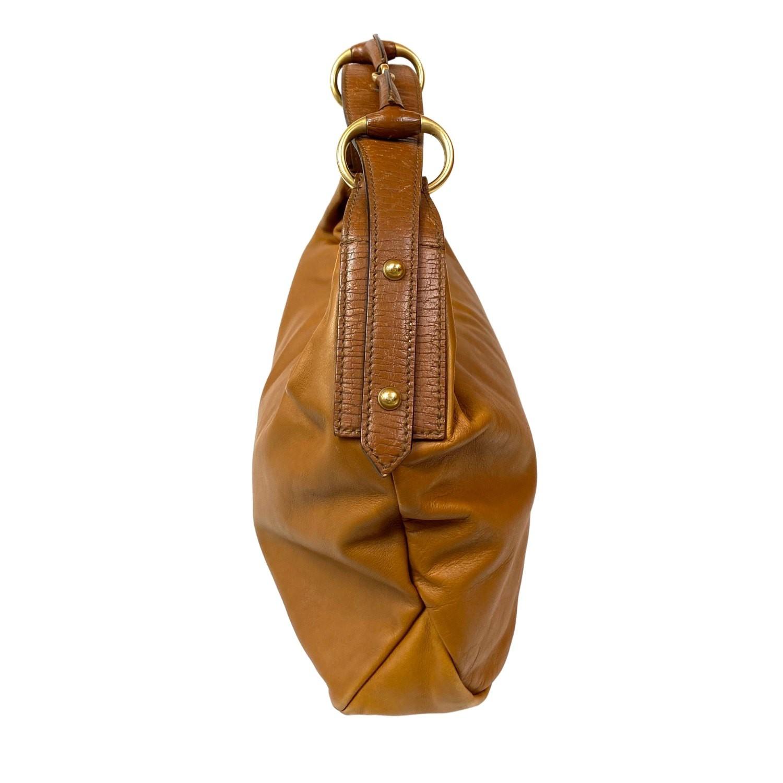 Bolsa Gucci Horsebit Hobo Caramelo