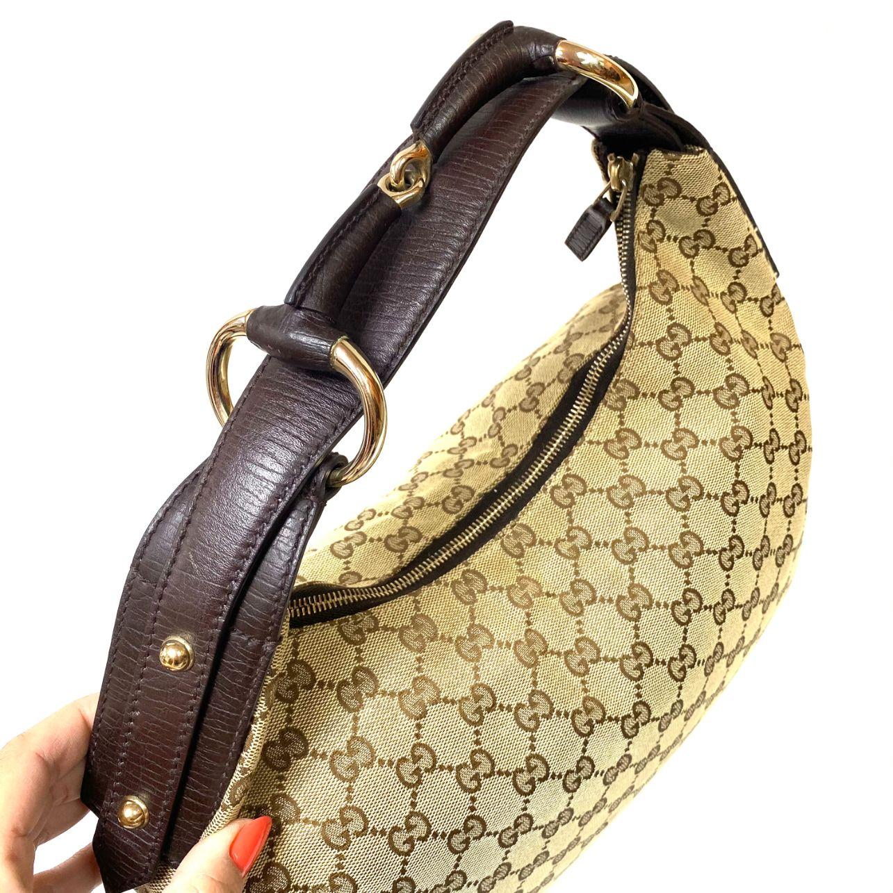 Bolsa Gucci Horsebit Hobo Monograma