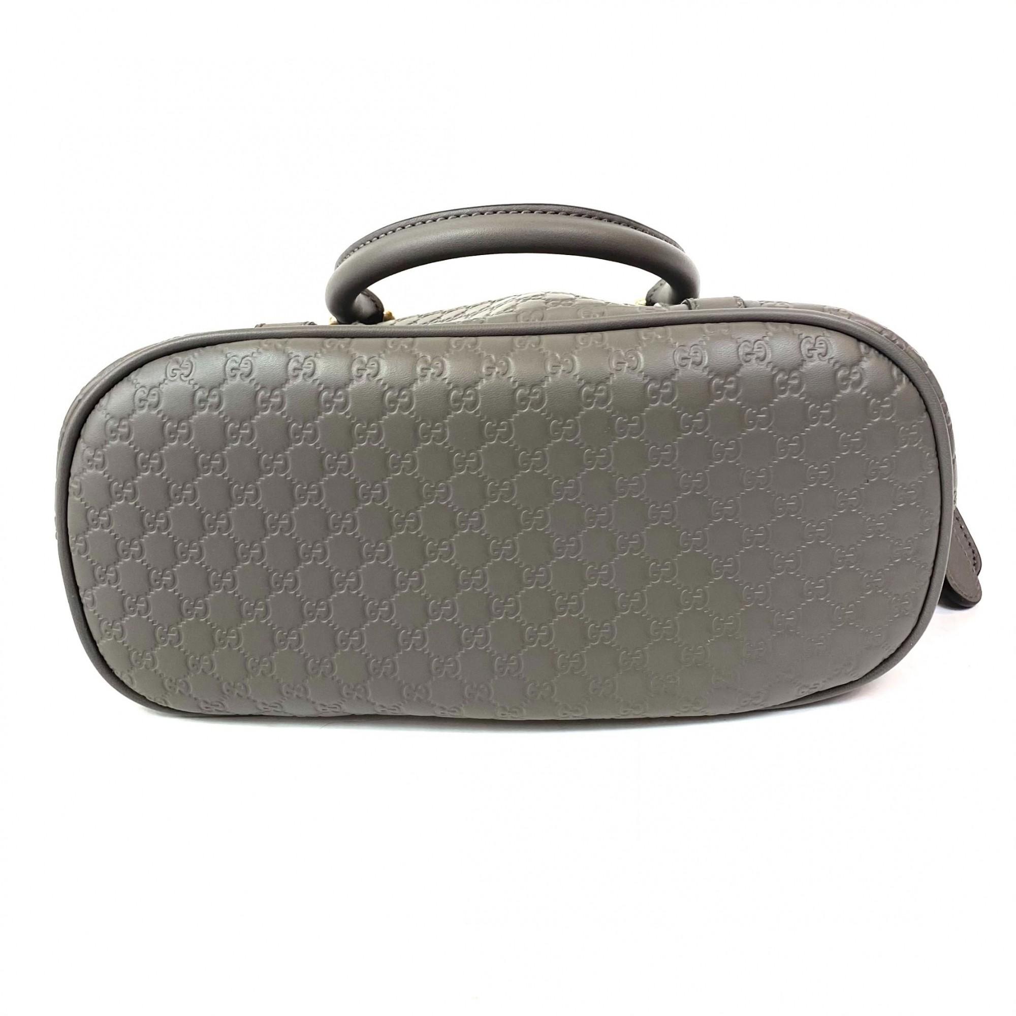 Bolsa Gucci Microguccissima Mini Dome Cinza