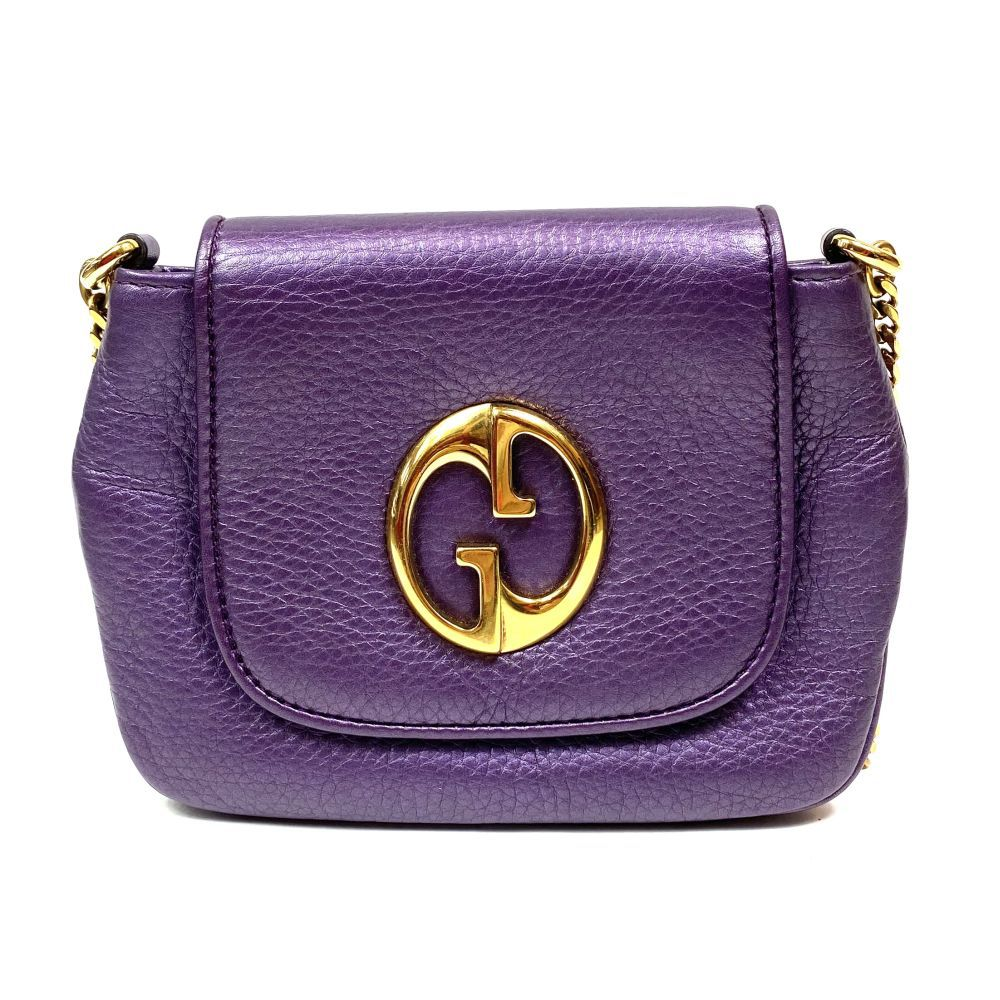 Bolsa Gucci Small 1973 Metallic Roxa