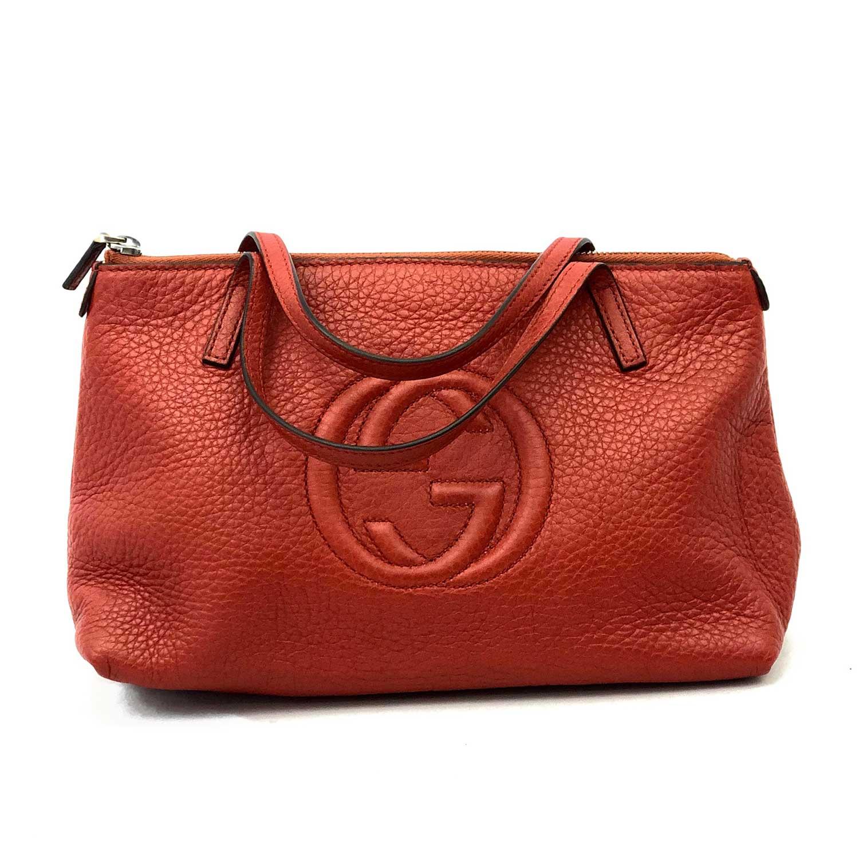 Mini Bolsa Gucci Vermelha Couro