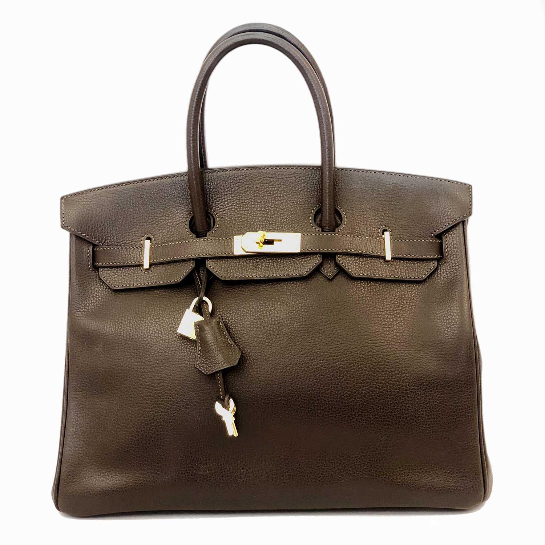 Bolsa Hermès Birkin 35 Marrom Café