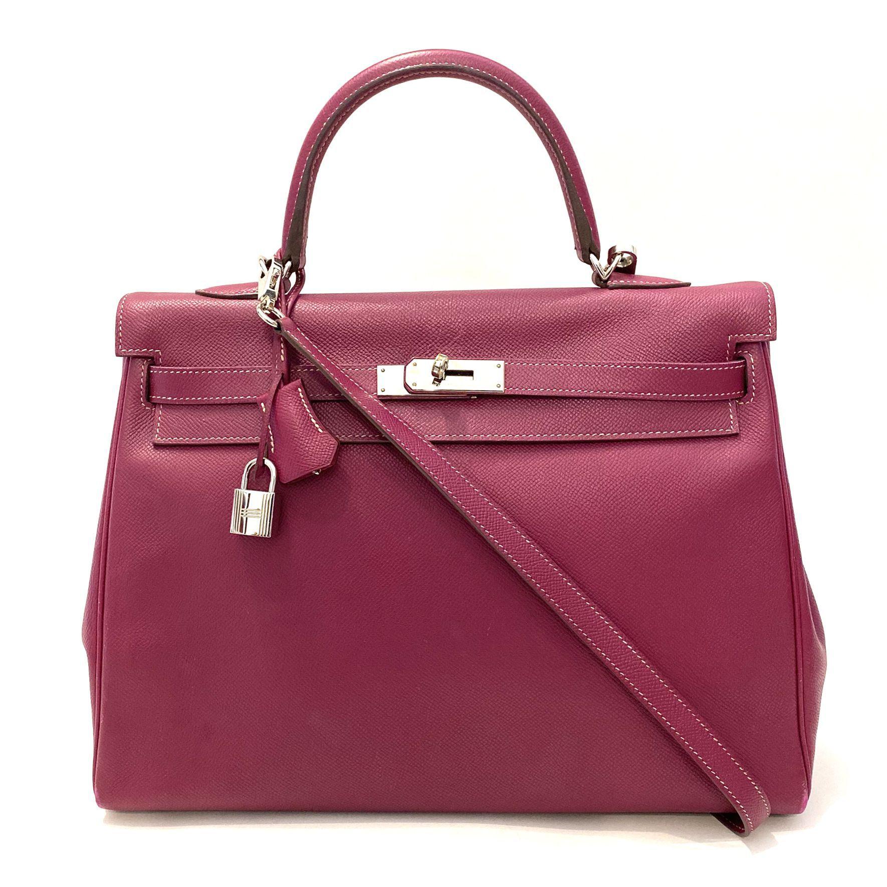 Bolsa Hermès Kelly 35 Framboesa