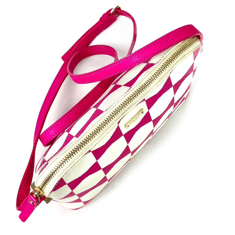 Bolsa Kate Spade Crossbody Branca e Pink