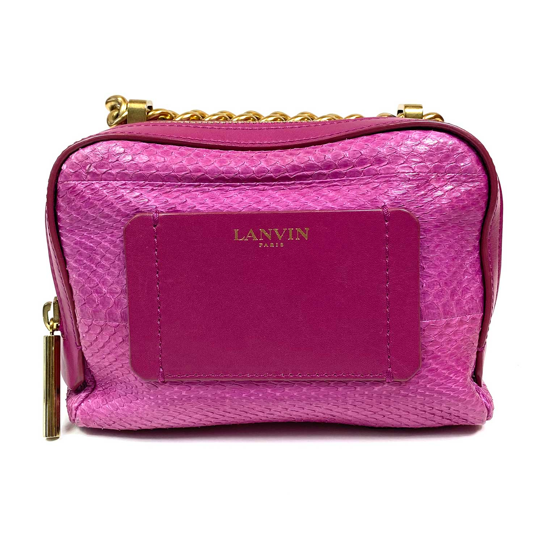 Bolsa Lanvin Mini Padam Python Pink