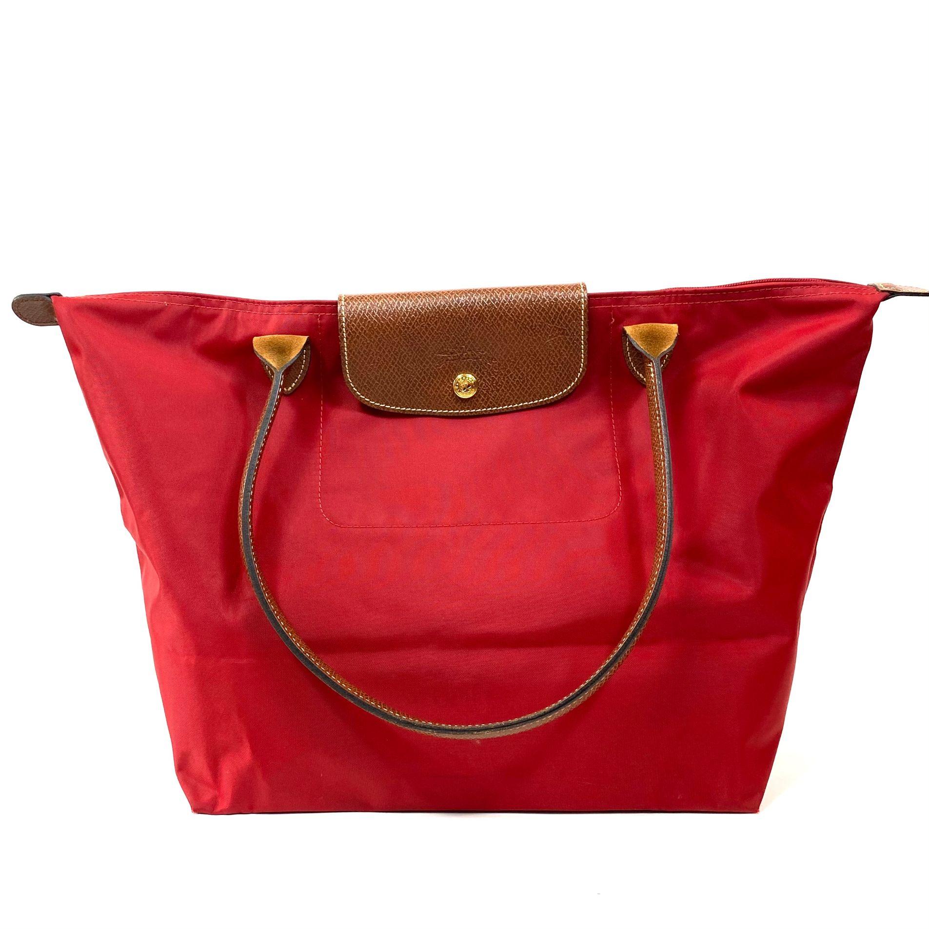 Bolsa Longchamp Le Pliage Tote Vermelha
