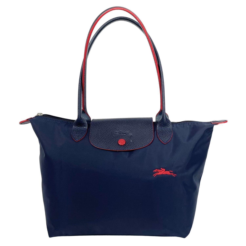 Bolsa Longchamp Nylon Tote Marinho