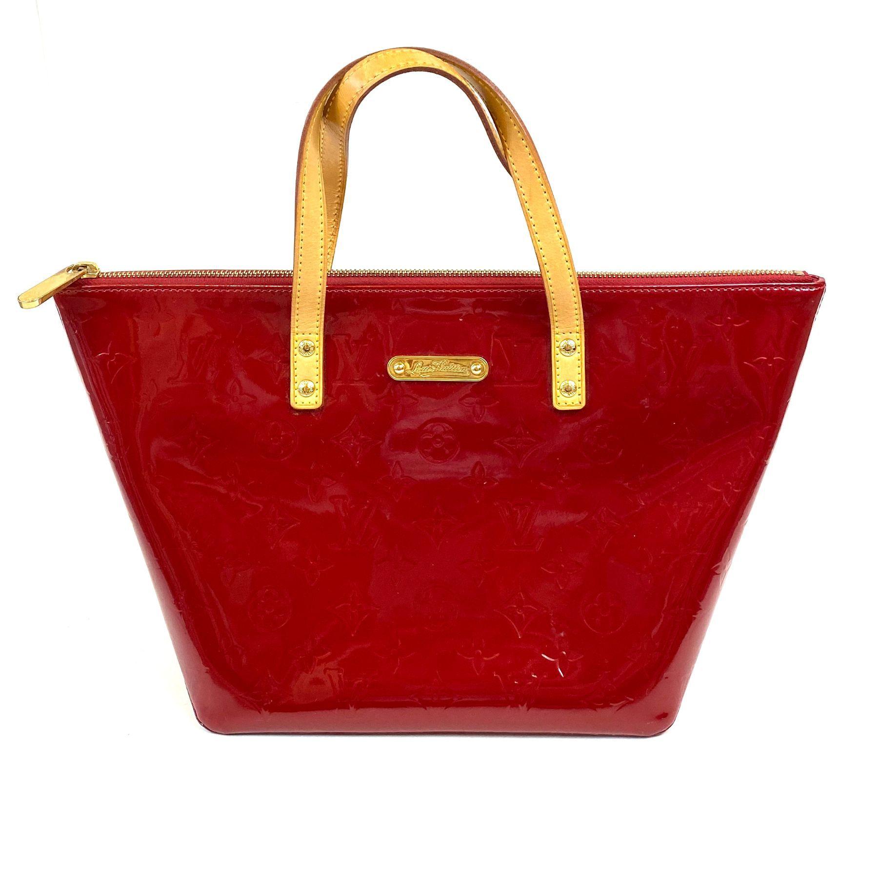 Bolsa Louis Vuitton Bellevue Verniz Vermelha