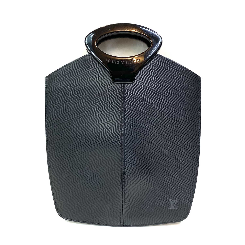 Bolsa Louis Vuitton Demi Lune Epi Preta