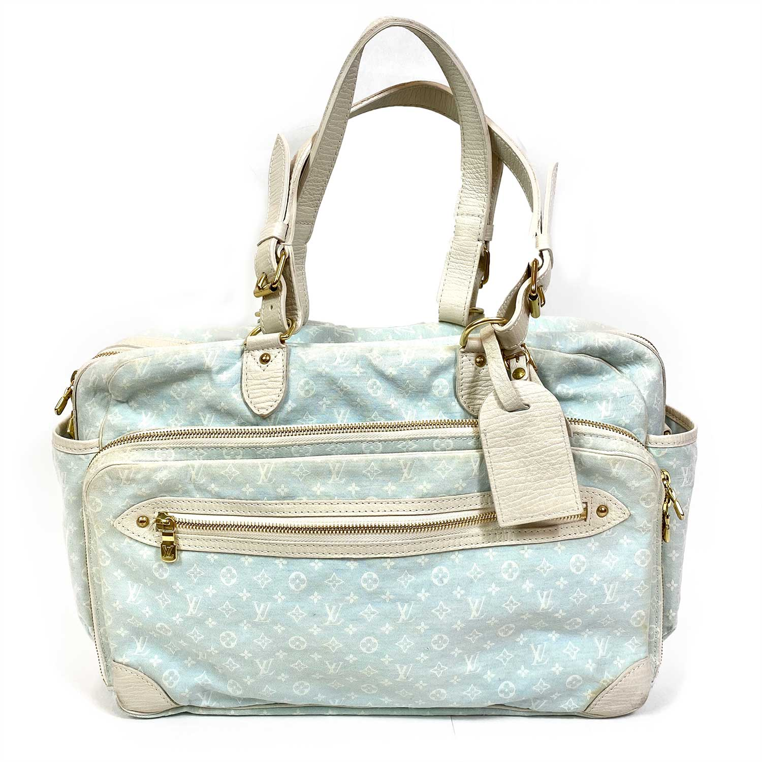 Bolsa Louis Vuitton Diaper Bag Mini Lin Azul