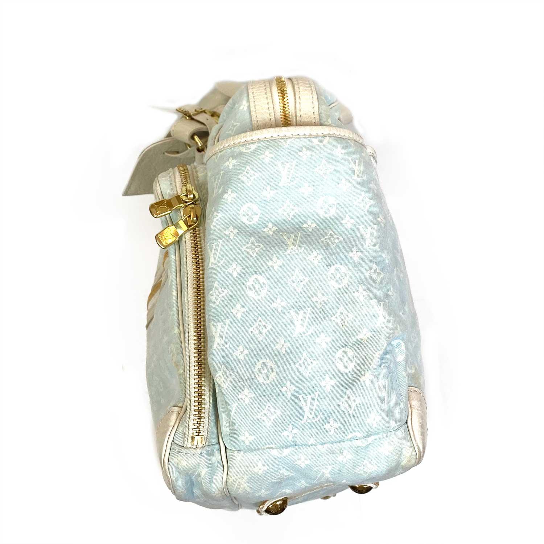 Bolsa Louis Vuitton Diaper Bag Mini Lin Azul