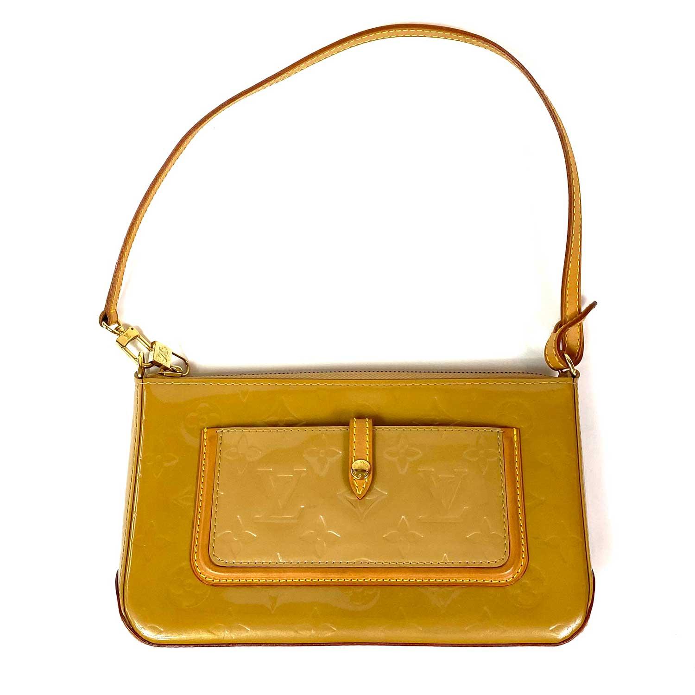 Bolsa Louis Vuitton Mallory Verniz Beige
