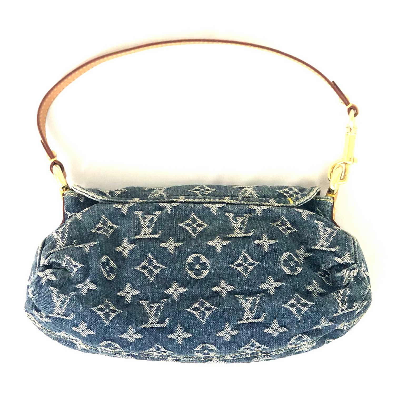 fa444dce7 Bolsa Louis Vuitton Pleaty Denim Monogram - Inffino