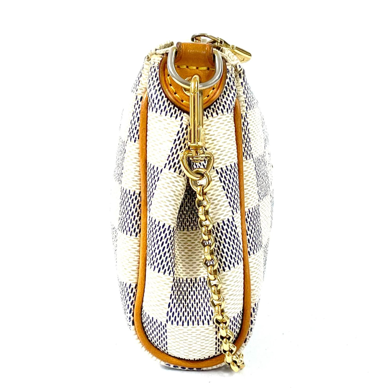 Bolsa Louis Vuitton Pochette Eva Damier Azur