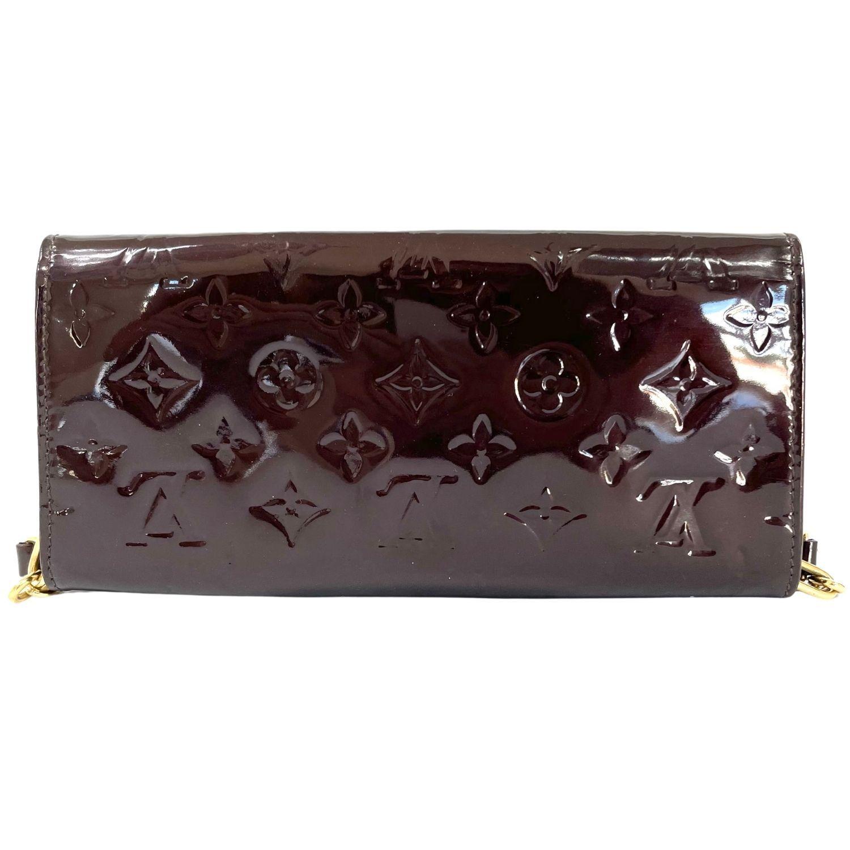 Bolsa Louis Vuitton Pochette Sunset Boulevard Verniz Vinho