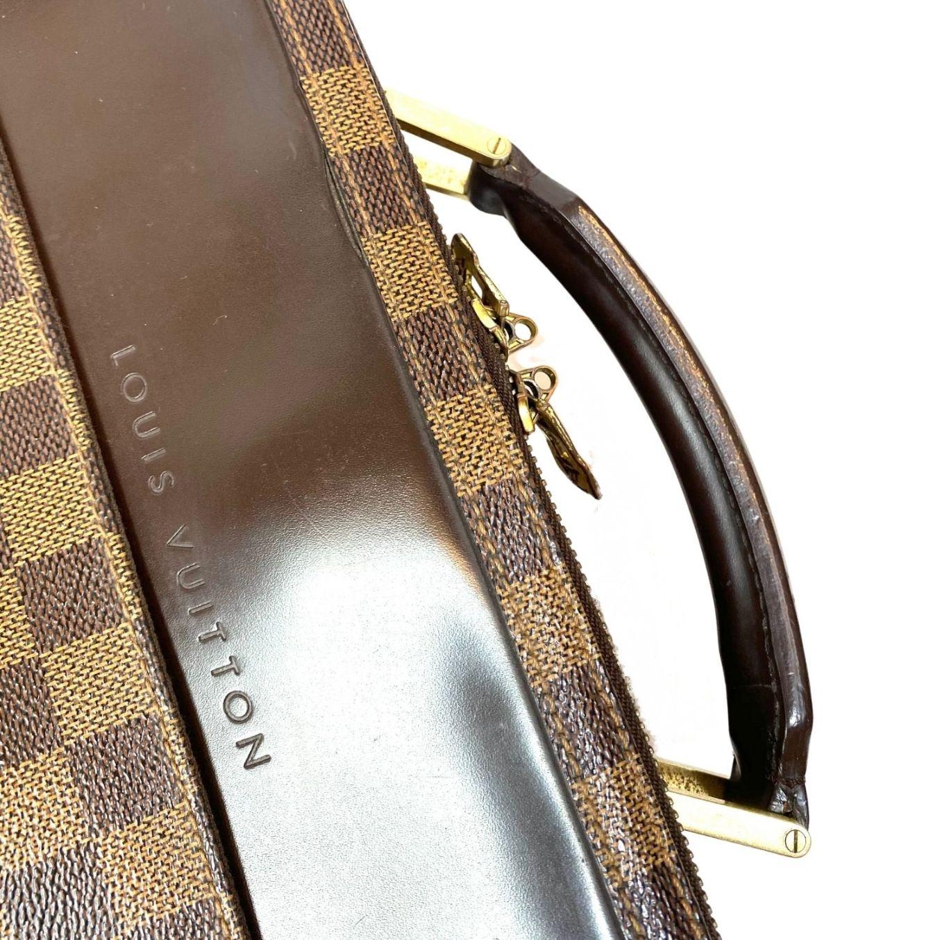 Bolsa Louis Vuitton Porte Ordinateur Sabana Damier Ébène
