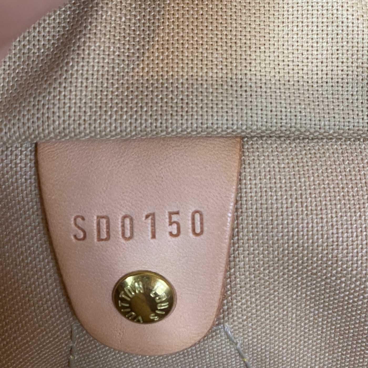 Bolsa Louis Vuitton Speedy 30 Damier Azur