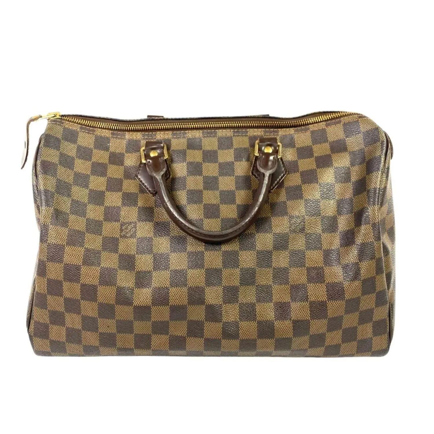 Bolsa Louis Vuitton Speedy 35 Damier Ebene