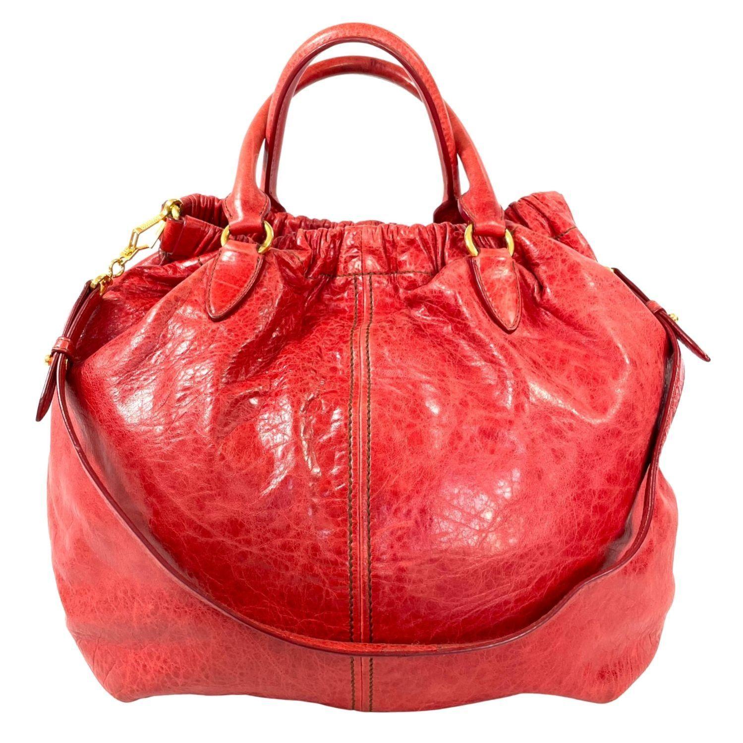 Bolsa Miu Miu Hobo Vermelha