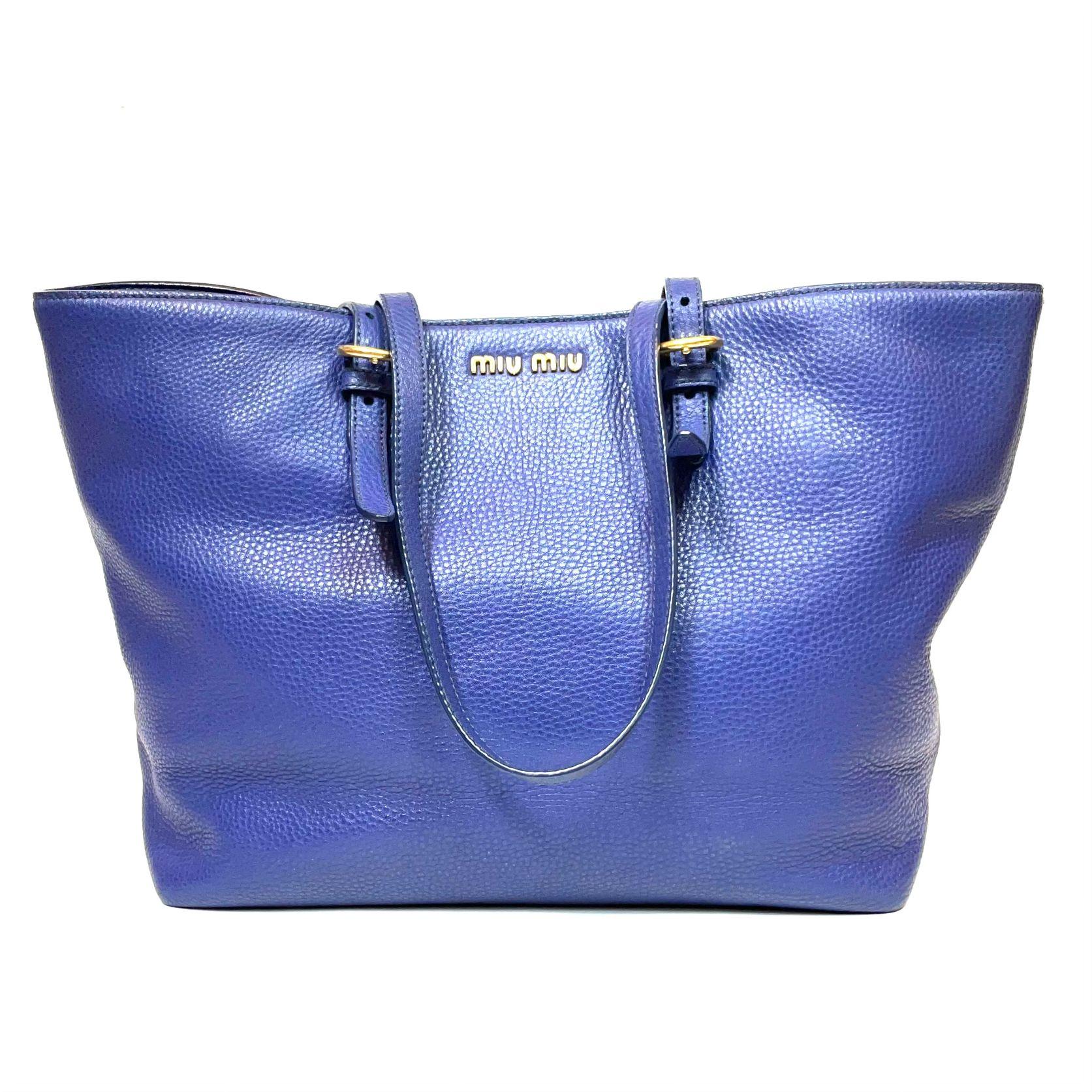 Bolsa Miu Miu Tote Azul