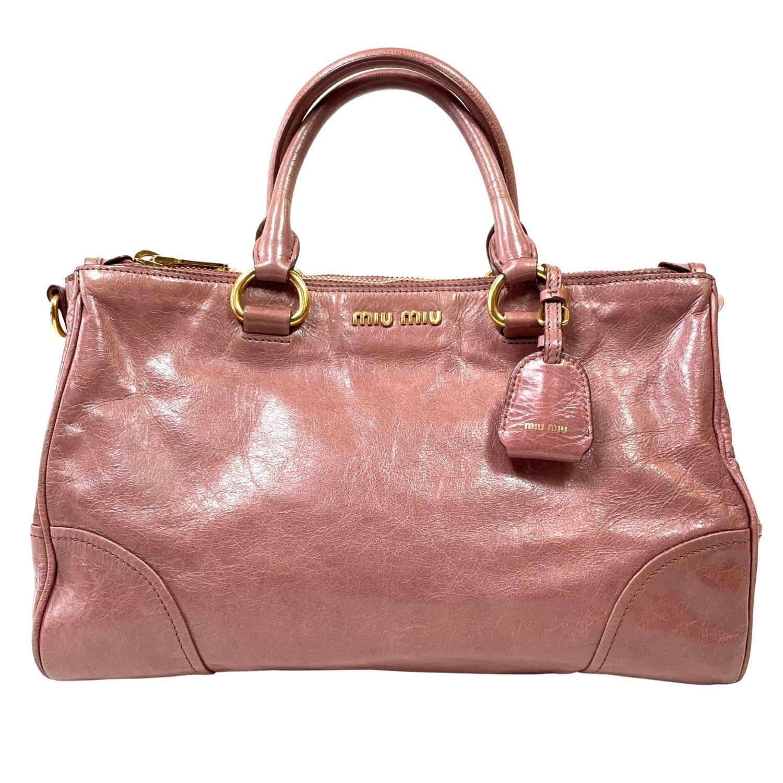 Bolsa Miu Miu Vitello Shine Rosé