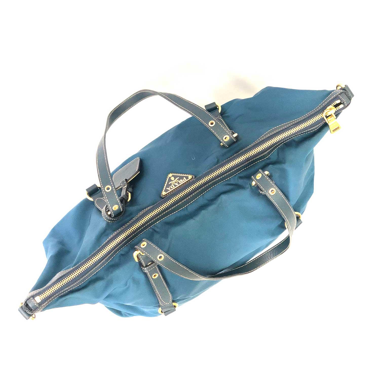 Bolsa Prada Azul Petróleo Nylon