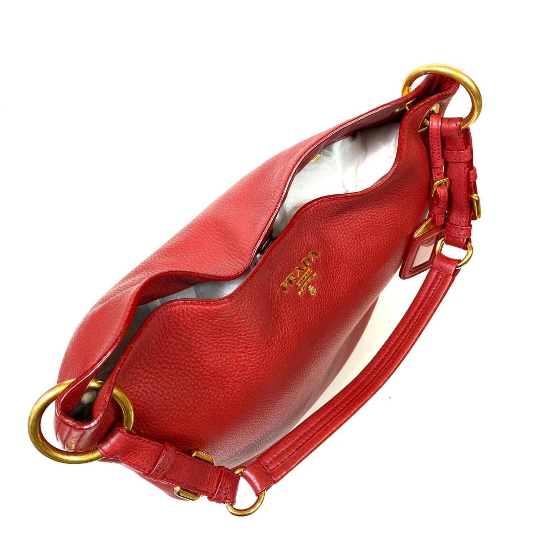 Bolsa Prada Daino Tote Vermelha