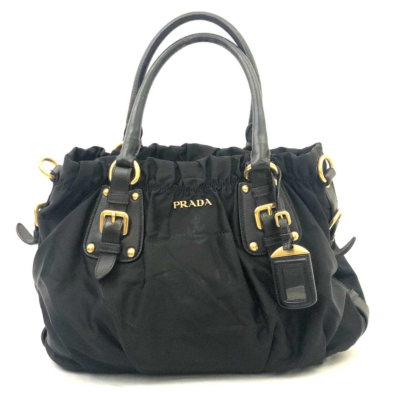 84faee0766 Bolsa Prada Preta Nylon - Inffino